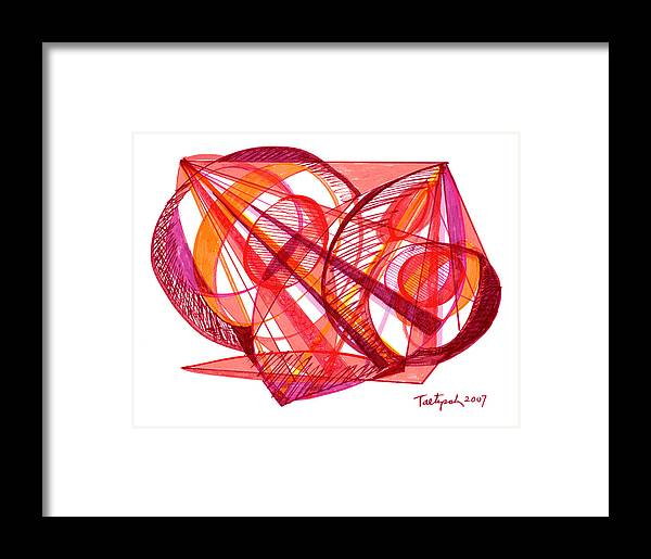 Modern Drawing Framed Print featuring the drawing Modern Drawing Seventy-one by Lynne Taetzsch