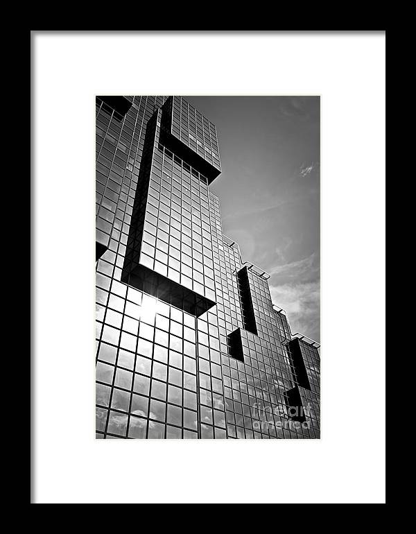 Building Framed Print featuring the photograph Modern Glass Building by Elena Elisseeva