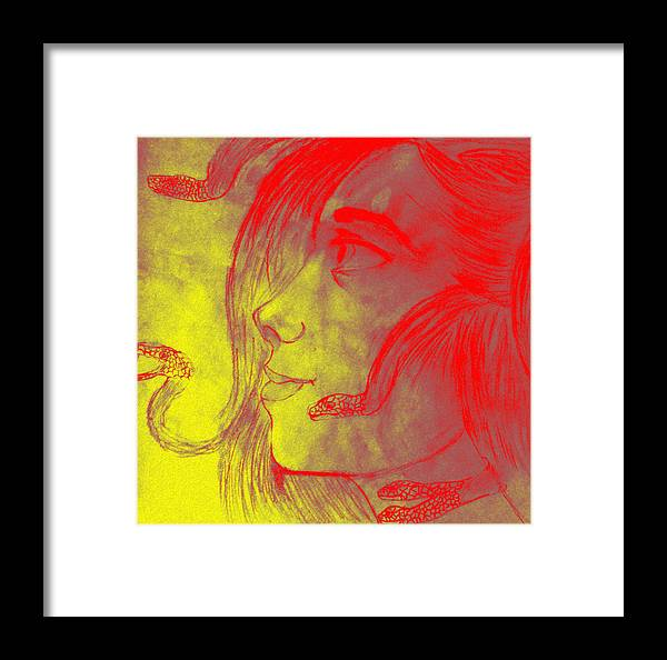 Abstract Framed Print featuring the digital art Modification by David Karapetjan