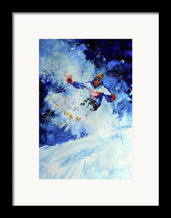 Artist Framed Print featuring the painting Mogul Mania by Hanne Lore Koehler