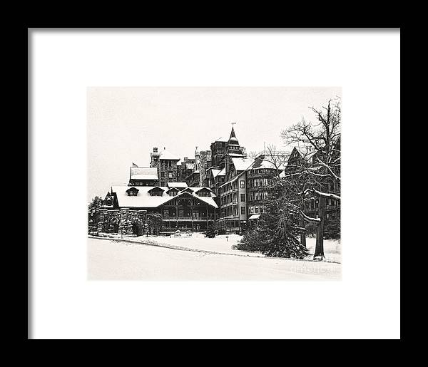 Winter Framed Print featuring the photograph Mohonk Mountain House by Claudia Kuhn