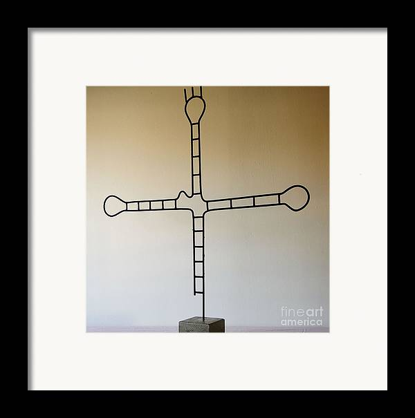 Rood Framed Print featuring the sculpture Molecular Religion by Franco Divi
