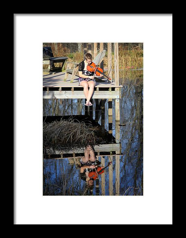Reflection Framed Print featuring the photograph Molly 02 by Jillian Barrile