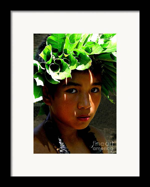 Hawaii Framed Print featuring the photograph Molokai Keiki Kane by James Temple