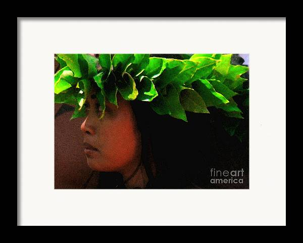 Hula Framed Print featuring the photograph Molokai Wahine Dancer by James Temple
