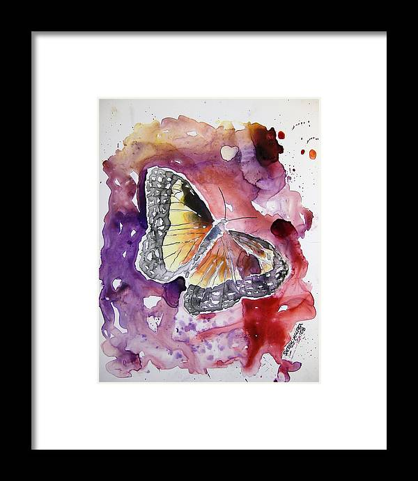 Monarch Framed Print featuring the painting Monarch Butterfly by Derek Mccrea