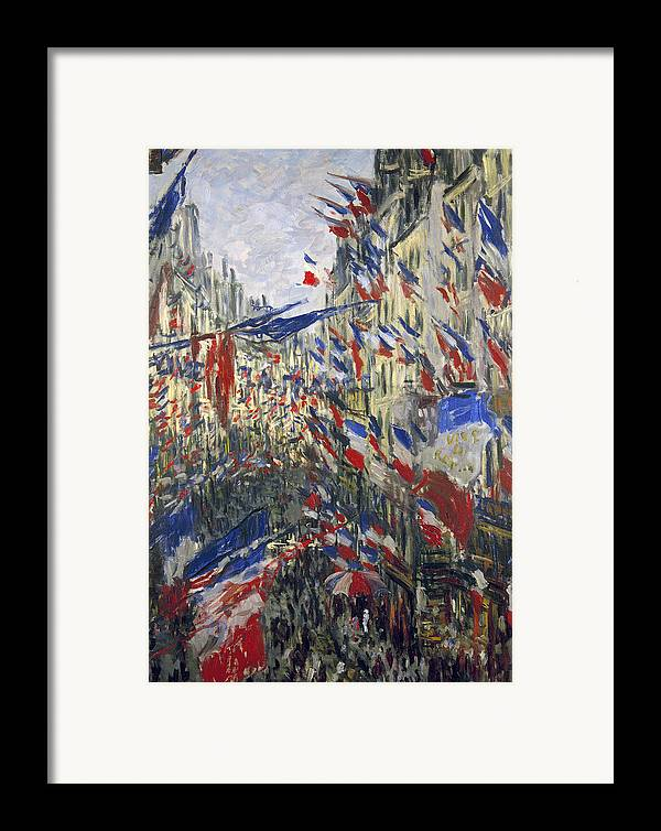 1878 Framed Print featuring the photograph Monet: Montorgeuil, 1878 by Granger