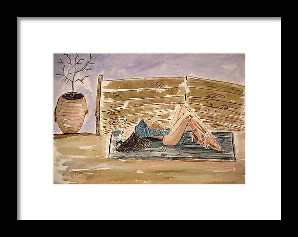 Nude Framed Prints Framed Print featuring the painting Monika Passion. by Shlomo Zangilevitch