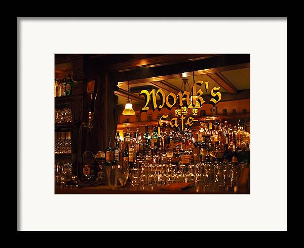 Monk's Cafe Framed Print featuring the photograph Monks Cafe by Rona Black