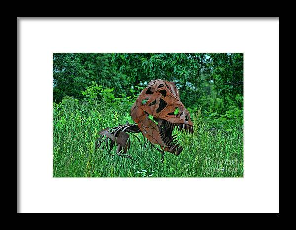 Door County Framed Print featuring the photograph Monster In The Grass by Tommy Anderson