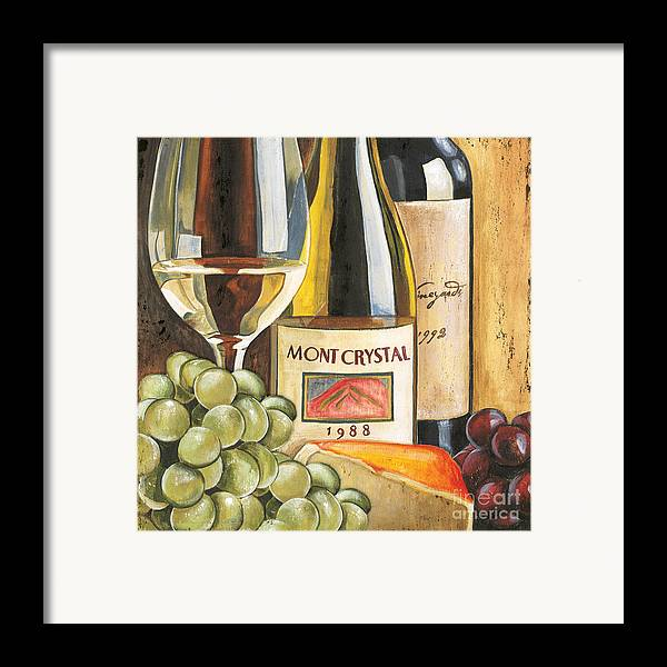 Green Grapes Framed Print featuring the painting Mont Crystal 1988 by Debbie DeWitt