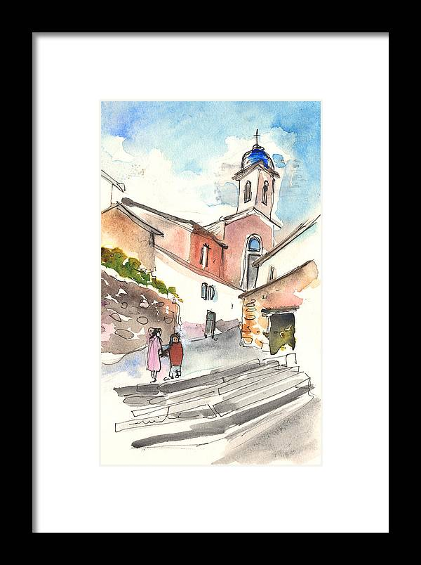 Travel Framed Print featuring the painting Montalcino 01 by Miki De Goodaboom