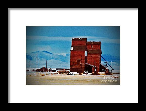 Montana Framed Print featuring the photograph Montana Mountaintown by Desiree Paquette