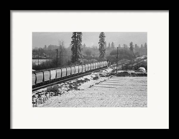 Montana Framed Print featuring the photograph Montana Train by Paul Bartoszek