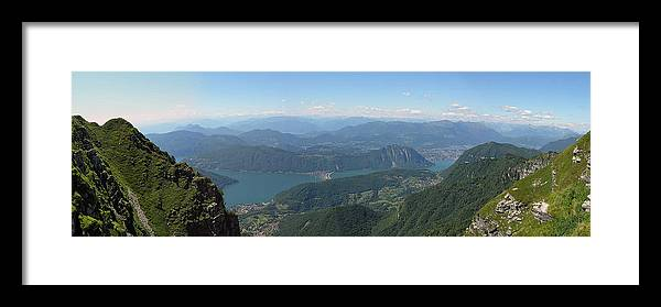 Day Framed Print featuring the photograph Monte Generoso Panorama by Dragan Kudjerski