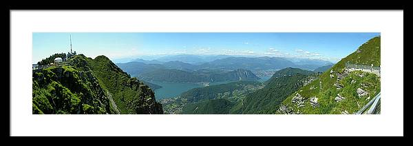 Monte Generoso Framed Print featuring the photograph Monte Generoso Svizzera by Dragan Kudjerski