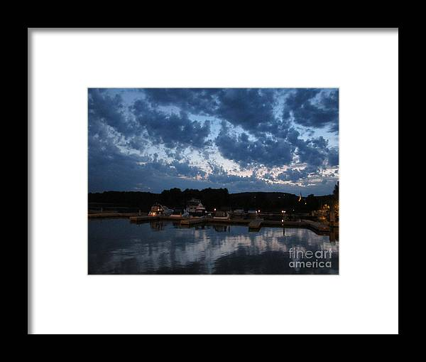 Sky Framed Print featuring the photograph Montebello Marina by Andre Paquin