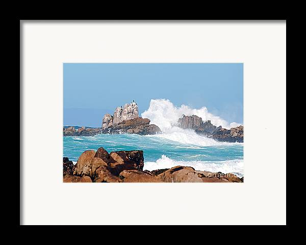 Monterey Bay Framed Print featuring the photograph Monterey Bay Waves by Artist and Photographer Laura Wrede