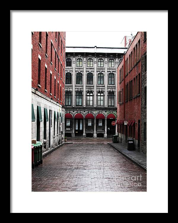 Montreal Alley Framed Print featuring the photograph Montreal Alley by John Rizzuto