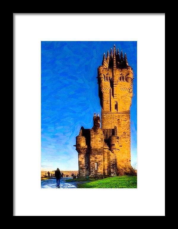 Stirling Framed Print featuring the photograph Monument To The Legendary William Wallace by Mark E Tisdale