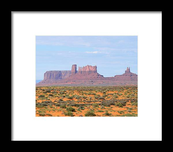 Monument Valley Framed Print featuring the photograph Monument Valley Area by Laurel Powell