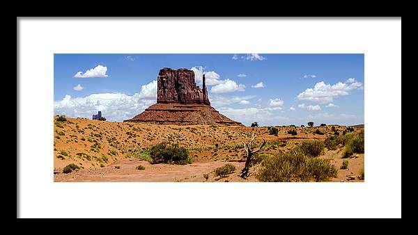 Landscape Framed Print featuring the photograph Monument Valley - Elephant Butte by Jon Berghoff