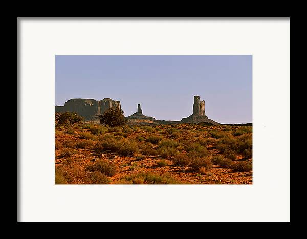 Monument Valley Framed Print featuring the photograph Monument Valley - Unusual Landscape by Christine Till