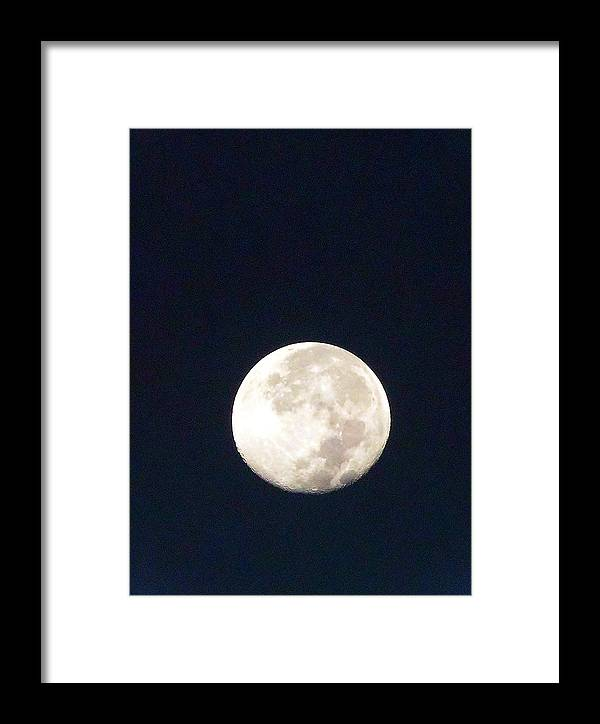 Landscape Photography Framed Print featuring the photograph Moon 012 by Chris Mercer