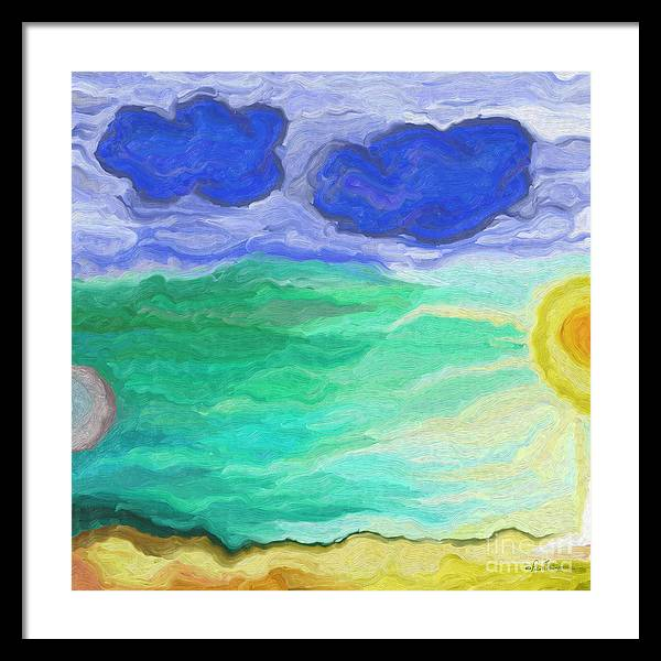 Nature Framed Print featuring the digital art Moon Bathing by Frank Tendrum