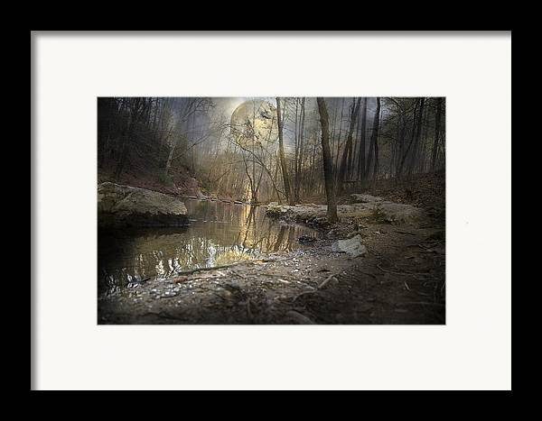 Full Framed Print featuring the photograph Moon Camp by Betsy Knapp