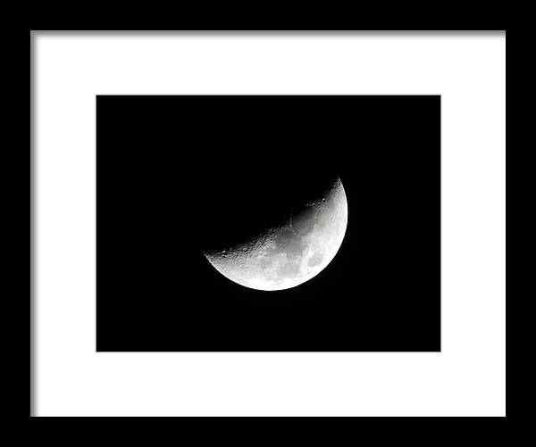 Night Framed Print featuring the photograph Moon by Cathy Jourdan
