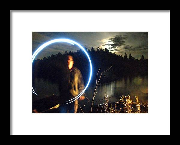 Framed Print featuring the photograph Moon Circle by Matthew Barton