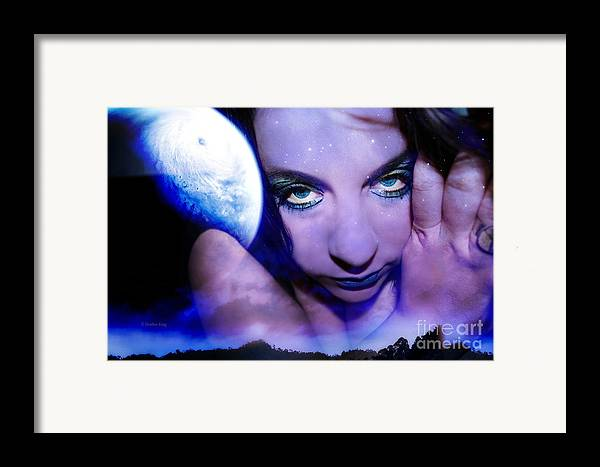 This Image Is  Heather King. You May Not Use This Or Any Of My Images (in Whole Or In Part). All Rights Reserved. Framed Print featuring the photograph Moon Intoxication by Heather King