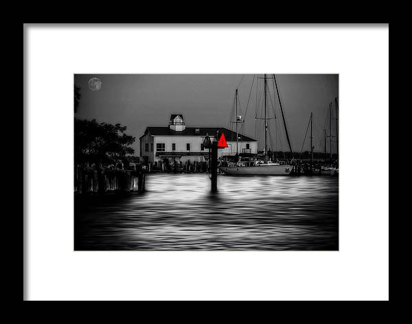 Bay Framed Print featuring the photograph Moon Over Solomons by Toby Horton