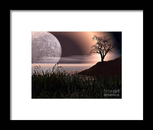Cove Framed Print featuring the photograph Moon Rise On Another World by Alan Russo