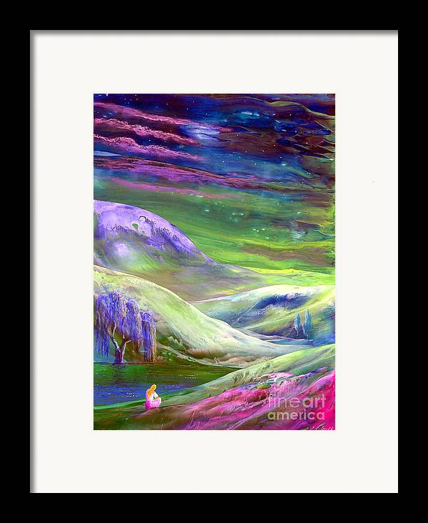 Moonlight Framed Print featuring the painting Moon Shadow by Jane Small