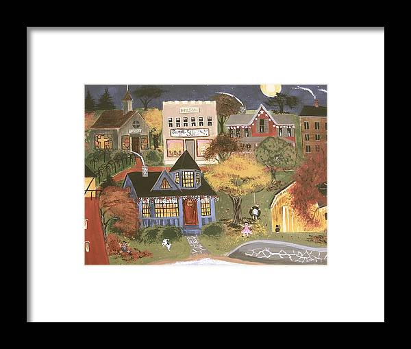 Autumn Framed Print featuring the painting Moonlight Dance by Kori Vincent