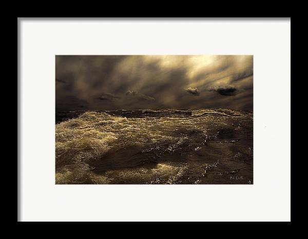 Seascape Framed Print featuring the photograph Moonlight On The Water by Bob Orsillo