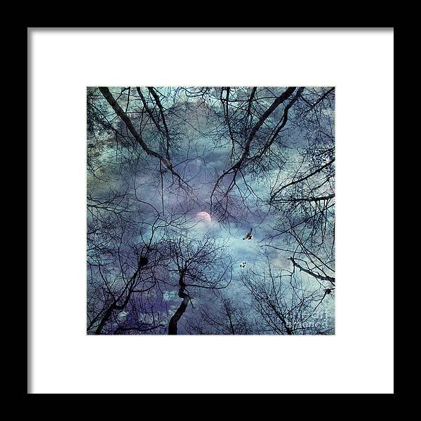Abstract Framed Print featuring the photograph Moonlight by Stelios Kleanthous