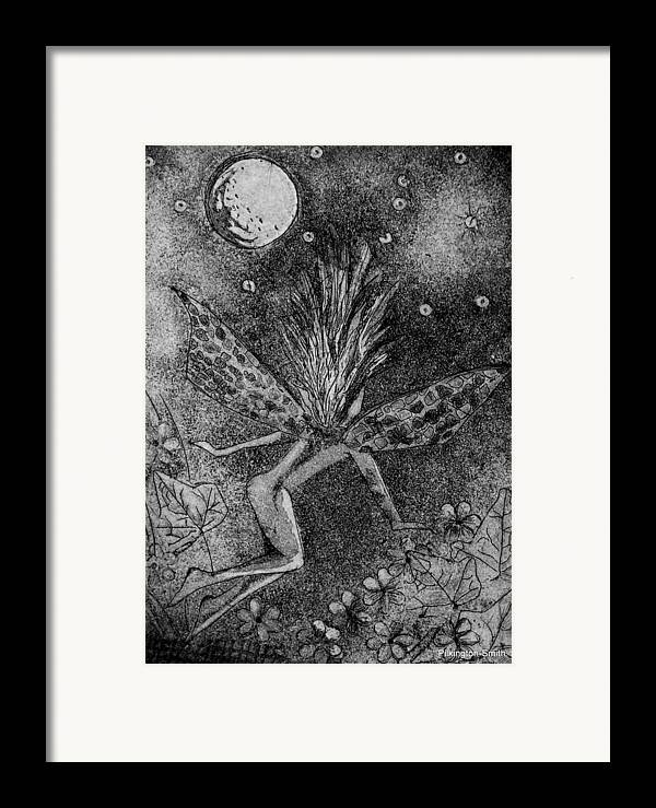 Fairy Framed Print featuring the relief Moonlit Path by Stacey Pilkington-Smith