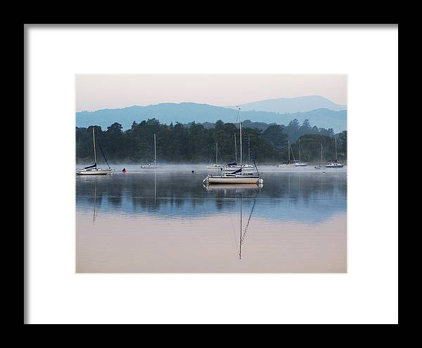 Yacht Framed Print featuring the photograph Moorings On Windermere by Susan Tinsley