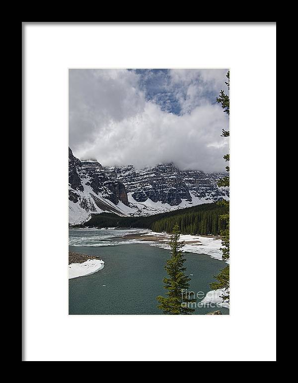 Mountains Framed Print featuring the photograph Moraine Lake by David Arment