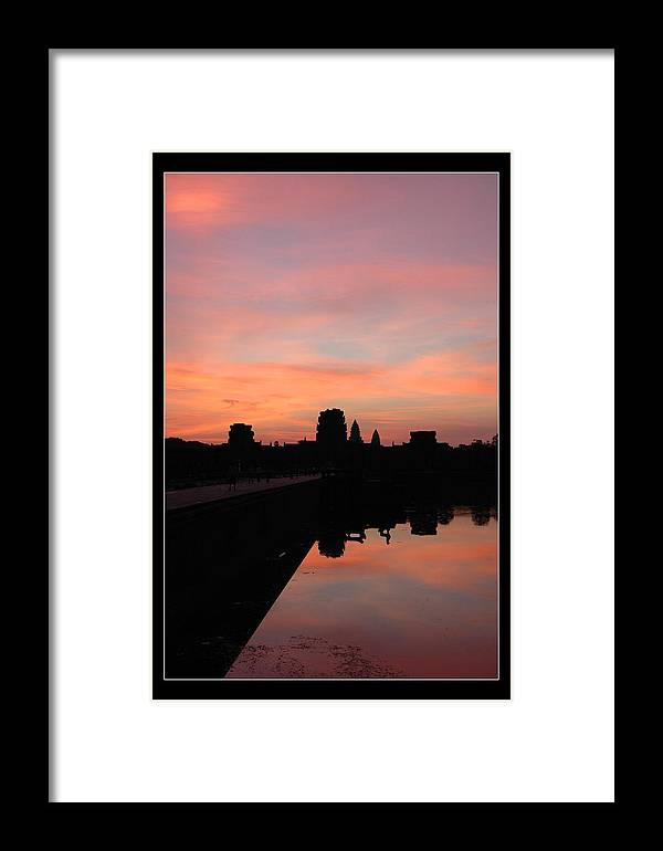 Landscape Framed Print featuring the photograph Morning At Angkor Wat by Ira Zamora