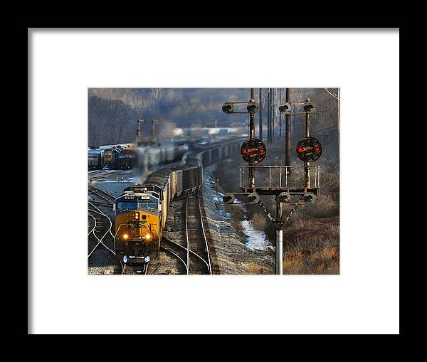 Csx Framed Print featuring the photograph Morning At Cumberland Yard by Evan Schilling
