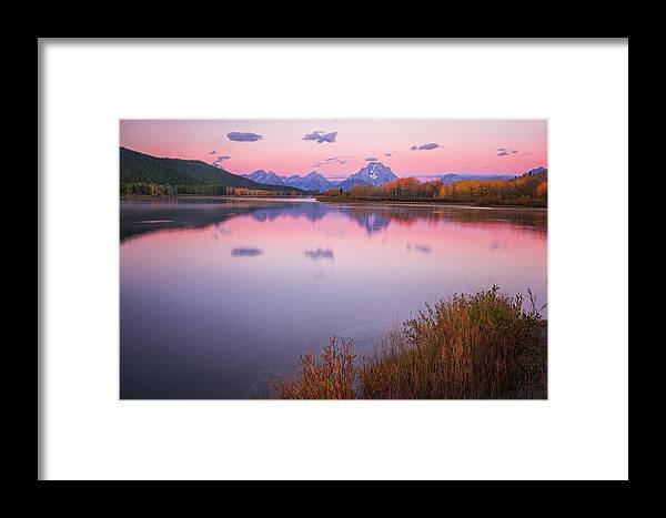 Grand Framed Print featuring the photograph Morning At Oxbow Bend by Alex Mironyuk