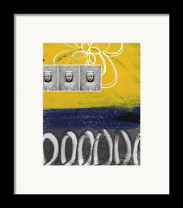 Buddha Framed Print featuring the painting Morning Buddha by Linda Woods