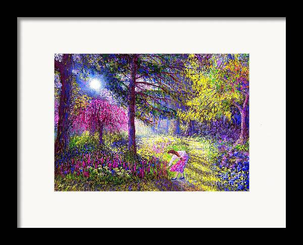 Woodland Framed Print featuring the painting Morning Dew by Jane Small