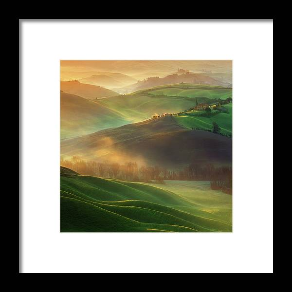 Landscape Framed Print featuring the photograph Morning Dreams by Krzysztof Browko