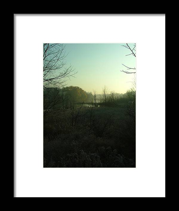 Landscape Framed Print featuring the photograph Morning Fog by Dennis Pintoski