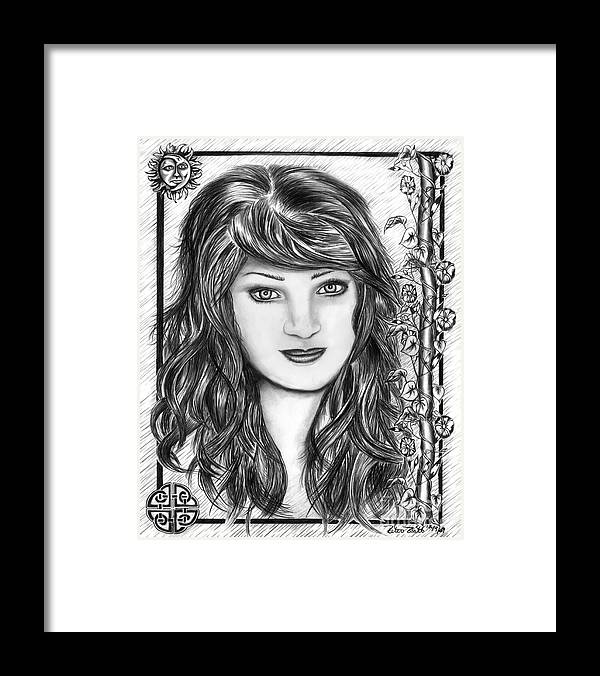 Morning Glory Framed Print featuring the drawing Morning Glory by Peter Piatt